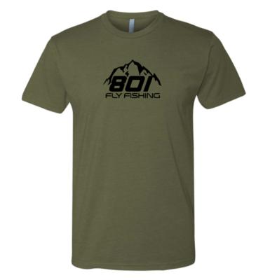 801MilitaryGreenShirt-FrontView