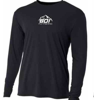 801 Fly Fishing SPF 30 Sun Shirt ( Black / White)