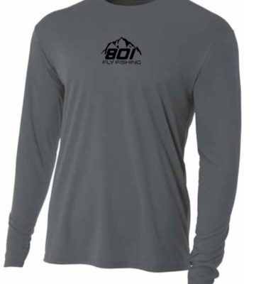 801 Fly Fishing SPF 30 Sun Shirt (Gray / Black)